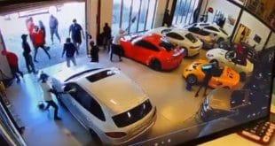 gang vandalizing luxury cars