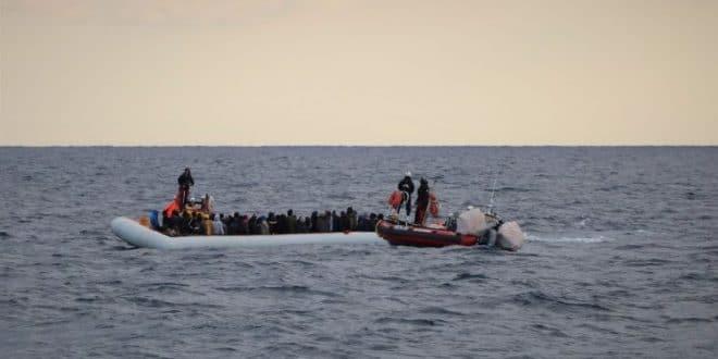 migrants on lybian coast
