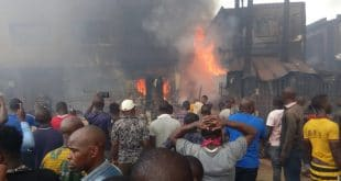 nigerian market burning