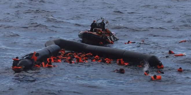 at least 20 migrants die after being thrown into the sea