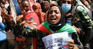 protest in Sudan